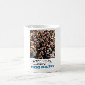 WW2 -- Produce For Victory! Coffee Mug