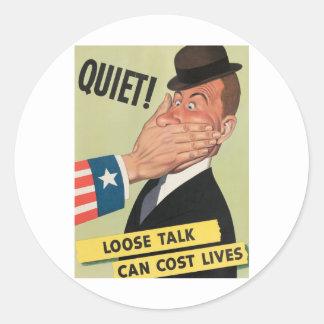 WW2 Propaganda Poster Classic Round Sticker