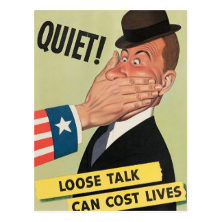 WW2 Propaganda Poster Postcard