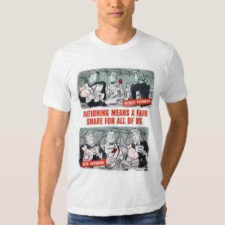 WW2 que raciona el dibujo animado Camisas