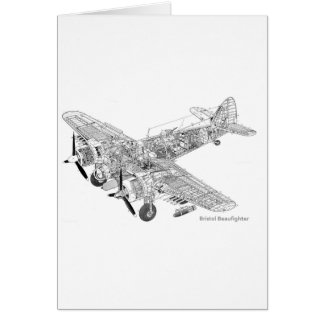 WW2 RAF Bristol Beaufighter Cutaway Card