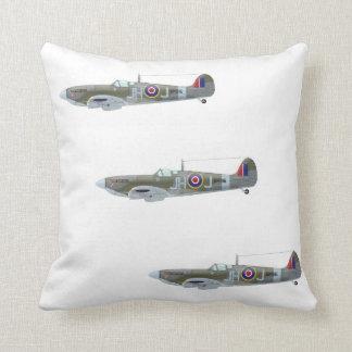 WW2 RAF Spitfire Fighter Plane Pillow