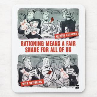 WW2 Rationing Cartoon Mouse Pad