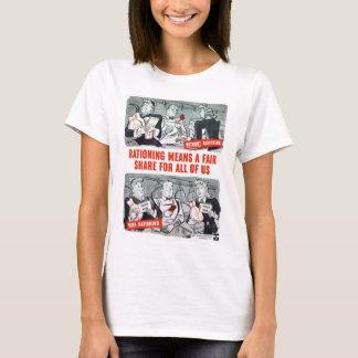 WW2 Rationing Cartoon T-Shirt