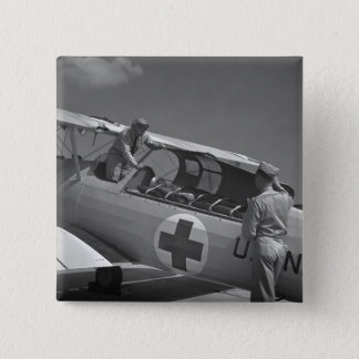 WW2 Red Cross Airplane Button