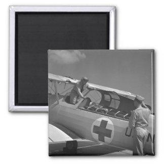 WW2 Red Cross Airplane Fridge Magnet