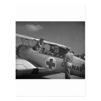 WW2 Red Cross Airplane Postcard