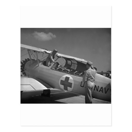WW2 Red Cross Airplane Post Card