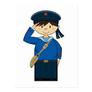 WW2 Russian Sailor Postcard