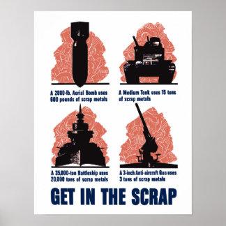 WW2 Scrap Metal Poster