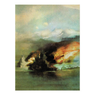 WW2 Sea Battle Poster