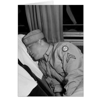 WW2 Soldier Napping, 1943 Greeting Card