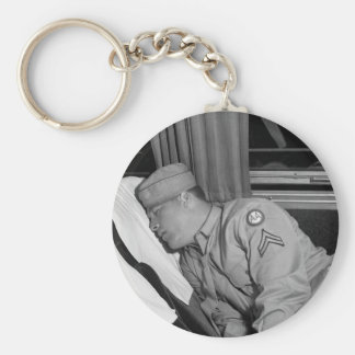 WW2 Soldier Napping, 1943 Keychain