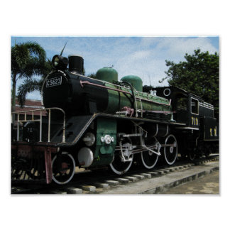 WW2 Steam Train at the River Kwai Bridge Posters