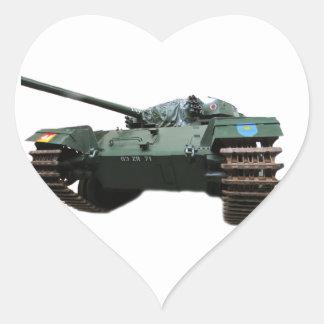WW2 Tank Heart Sticker