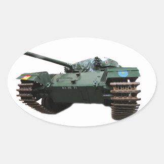 WW2 Tank Oval Sticker