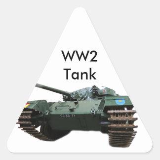 WW2 Tank Triangle Sticker