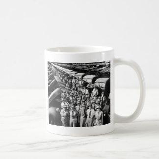WW2 Truck Ladies, 1940s Classic White Coffee Mug