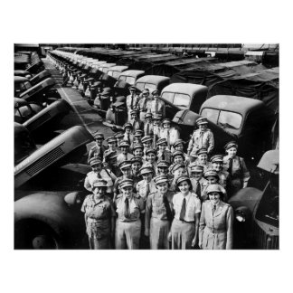 WW2 Truck Ladies, 1940s Poster