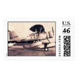 WW2 U.S.Navy Airplane Photograph postage Stamps