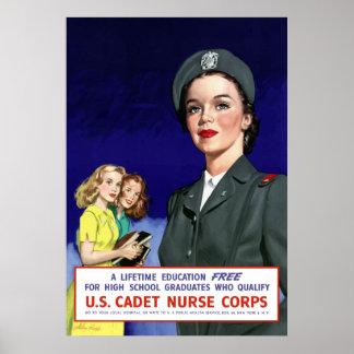 WW2 -- US Cadet Nurse Corps Print