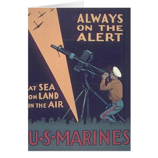 WW2 USMC 18 TARJETA DE FELICITACIÓN