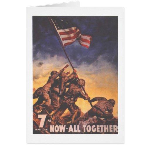 WW2 USMC 9 GREETING CARD