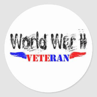 WW2 veteran Classic Round Sticker