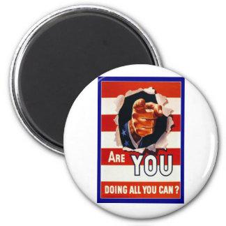 WW2 Wartime Propaganda Poster 2 Inch Round Magnet