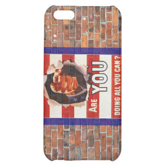 WW2 Wartime Propaganda Poster Cover For iPhone 5C