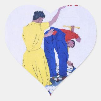 WW2 Wartime Propaganda Poster Heart Sticker