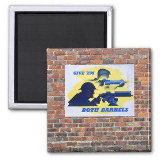 WW2 Wartime Propaganda Poster 2 Inch Square Magnet