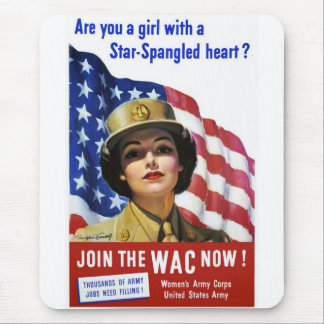 WW2 Wartime Propaganda Poster Mouse Pad