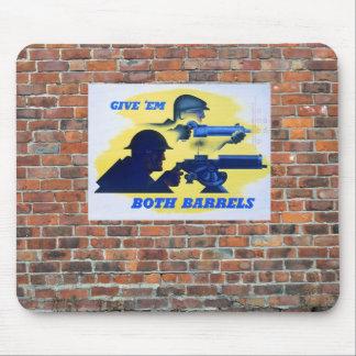 WW2 Wartime Propaganda Poster Mouse Pad