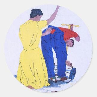 WW2 Wartime Propaganda Poster Classic Round Sticker
