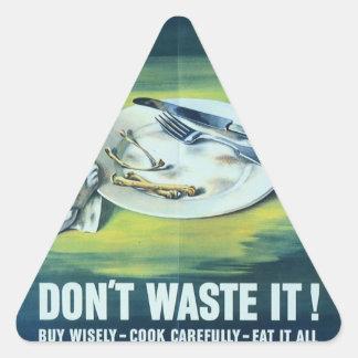 WW2 Wartime Propaganda Poster Triangle Sticker