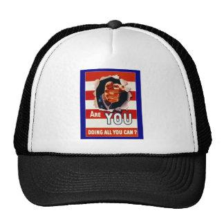 WW2 Wartime Propaganda Poster Trucker Hat