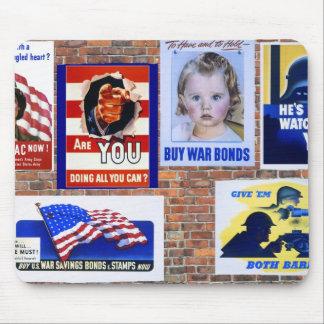 WW2 Wartime Propaganda Posters Mouse Pad