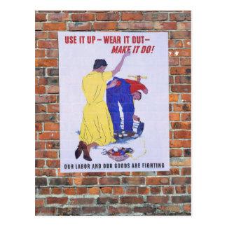 WW2 Wartime Propaganda Posters Postcard