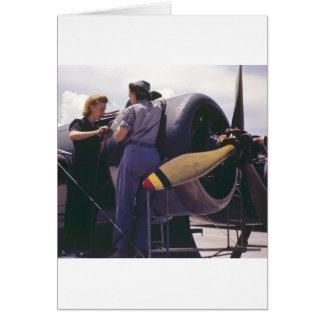 WW2 Women Aviation Mechanics Card