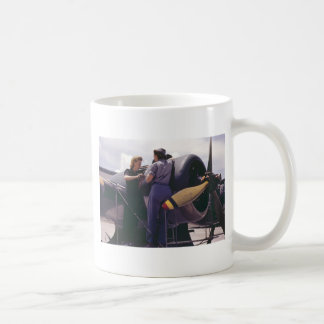 WW2 Women Aviation Mechanics Classic White Coffee Mug