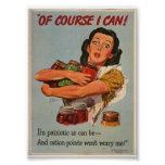 "WW2 Women- ""Of Course I CAN..."" Poster"