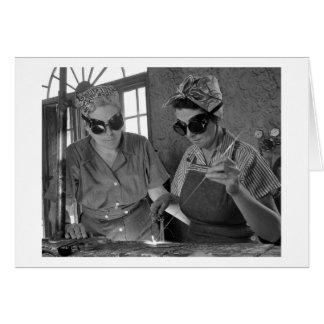WW2 Women Welders, 1942 Card