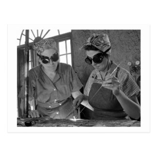 WW2 Women Welders, 1942 Postcard
