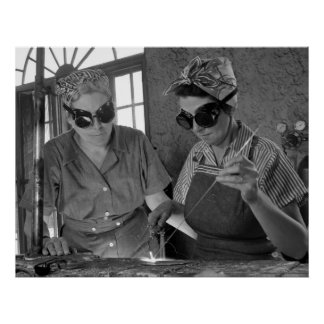WW2 Women Welders: 1942 Poster