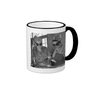 WW2 Women Welders, 1942 Ringer Coffee Mug