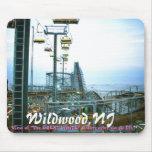 """ww3, Wildwood, NJ, vista """"Del GRAN"""" Rol BLANCO… Tapetes De Raton"""
