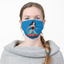 WW84 | Be The Hero Wonder Woman Retro Comic Art Adult Cloth Face Mask
