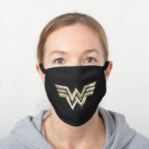 WW84 | Golden Wonder Woman Logo Black Cotton Face Mask