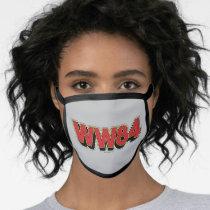 WW84   Retro Comic Logo Face Mask
